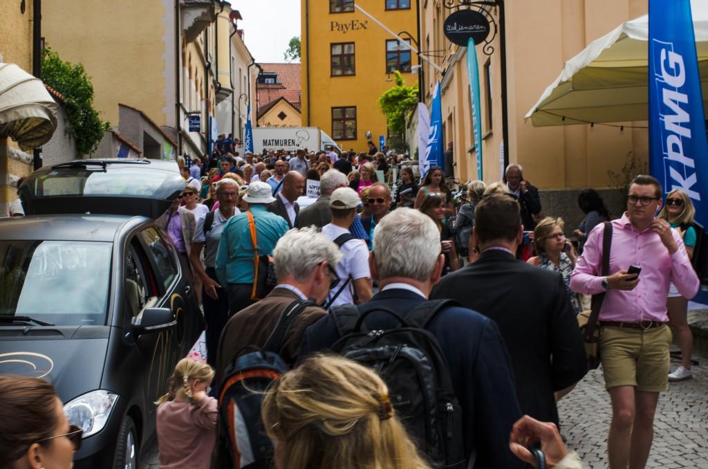 Galet mycket folk i Visby under Almedalsveckan.