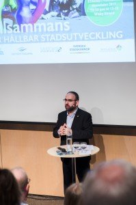 Mehmet Kaplan, Bostads- och stadsutvecklingsminister. Seminarie Svenska Stadskärnor.