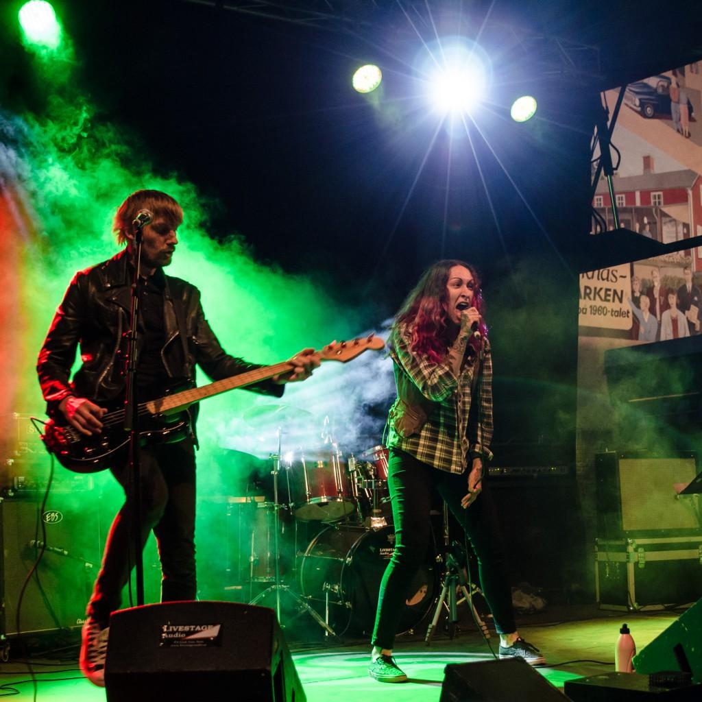 Sista Chansen, punk från Boden under Kulturnatta 2015.