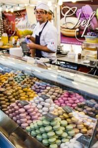 Internationella matmarknaden i Luleå. Macroner, så läckra!