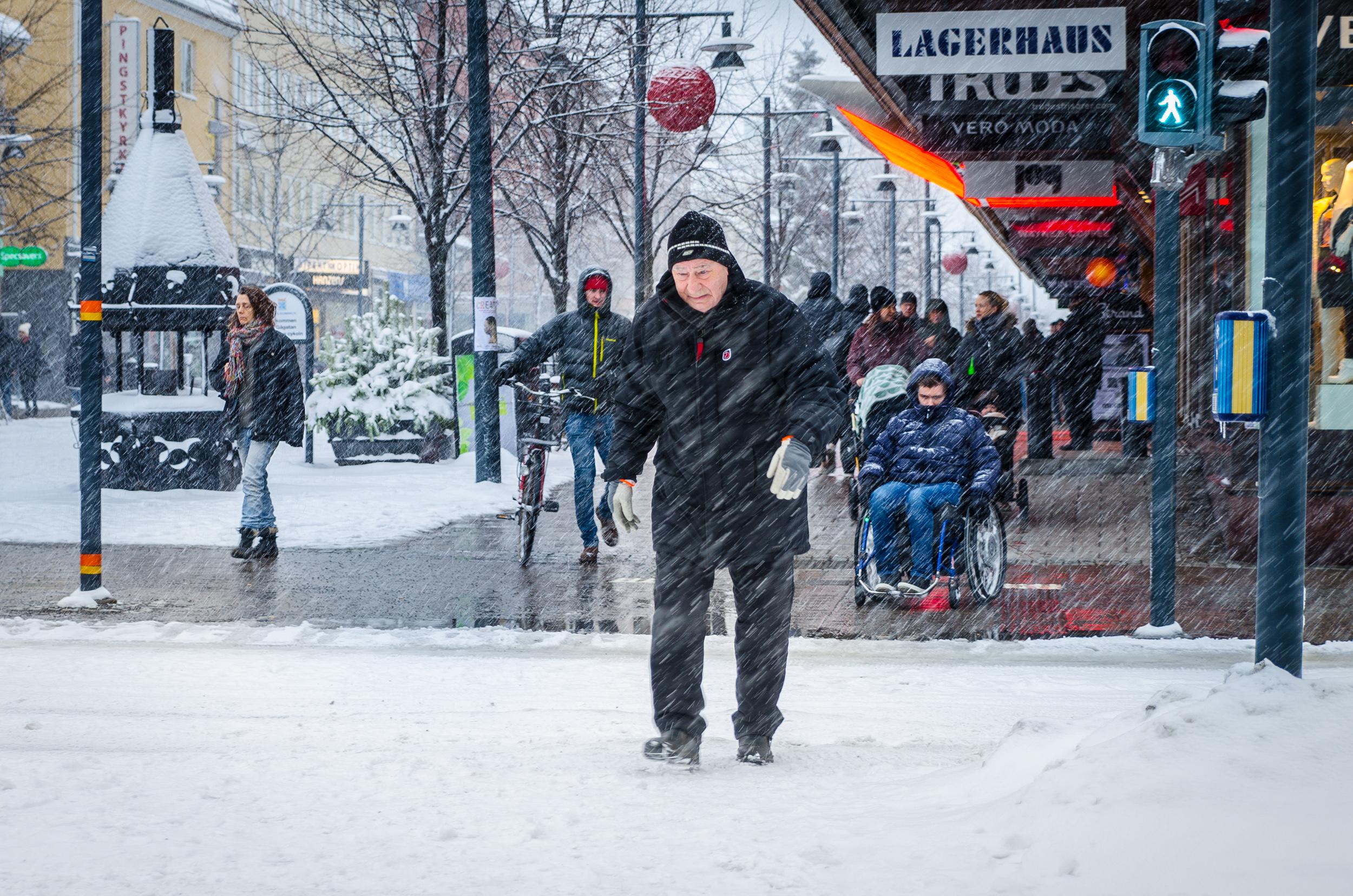 En vanlig januaridag i Luleå