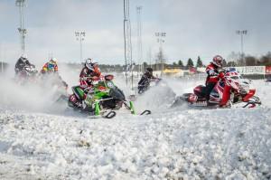 11 Max Lemnert Östersunds SSK. Polaris. Final i Skotercross i Boden 2016