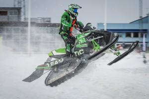 60 David Reponen Storumans SK Team Yngvesson Arctic Cat. Final i Skotercross i Boden 2016