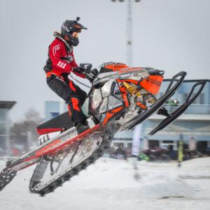 111 Sebastian Asp Kiruna MK Team Lundströmmaskin/Lynx Sweden Lynx. Final i Skotercross i Boden 2016