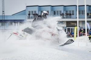 27 Nisse Källström Team Walles MK  Polaris Team Sweden Polaris. Final i Skotercross i Boden 2016