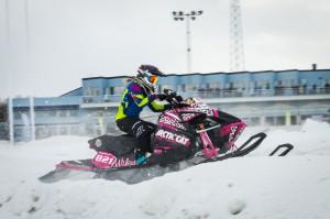 821 Fanny Vikström Infjärden Racing SK  Team Mellanströms Racing Arctic Cat. Final i Skotercross i Boden 2016