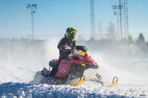 70 Mille Andersson Ljusdals MK. Lynx. Final i Skotercross i Boden 2016