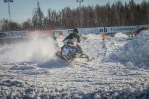 36 Gustaf Lindgren Lingheds SK  Team Haralds Racing Polaris. Final i Skotercross i Boden 2016
