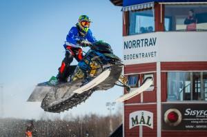 46 Gustav Salomonsson Team Walles MK  Team Jonse Racing AB Lynx. Final i Skotercross i Boden 2016
