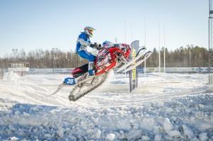 39 Niklas Grönlund Storumans SK.  Polaris. Final i Skotercross i Boden 2016