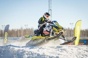226 Linus Eriksson Lingheds SK. Team Säter´s Cykel & Motor Ski-Doo. Final i Skotercross i Boden 2016