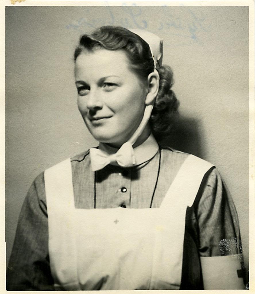 Syster Sylvia på Sanatoriet i Sandträsk.