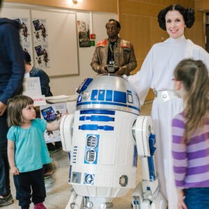 R2D2 och prinsessan Leia, vilken dag!