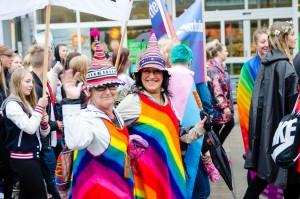 Luleå Pride 2016. Kul att se alla utstyrslar!