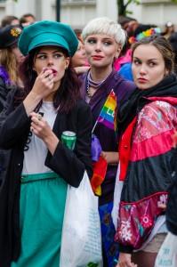 Luleå Pride 2016. Många olika klädstilar var det...