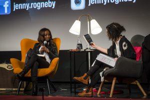 Jenny Rogneby intervjuas av Fredrika Johansson