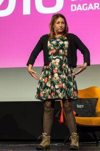 Martina Haag berättar livfullt om sina upplevelser...