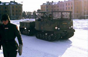 PV-bandvagn. Kallt på vintern, men coolare än de täckta!