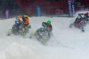 #165 Pär Vikman, Malmfältens MCK, #29 Balder Näs, Team Walles MK samt #227 Marcus Johansson, Östersunds SSK. Boden Arena Super-X 2017.