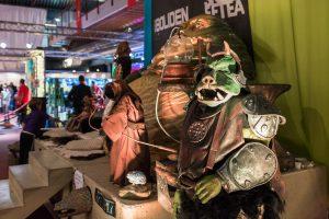 Jabba the Hutt är stor! Och vakterna såg elaka ut!