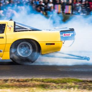 SHRA Dragracing Fällfors. Goldtown Dragrace. Grymt vrid i motorerna.
