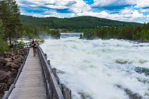 Storforsen. Mycket vatten tack vare sen vårflod.