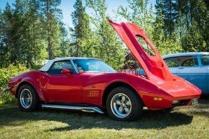Almond Road Meet 2017. Corvette, lika fint skick på underredet!
