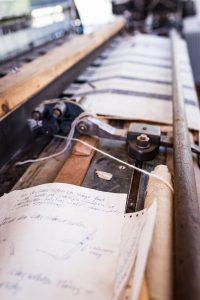 Morjärvs Ullspinneri. Det kändes äldre än 80-tal, detta papper.