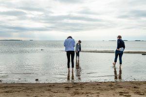 Semester 2017, Uleåborg (Oulo). Det var inte varmt i vattnet, alls!
