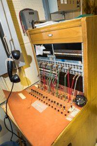 Siknäsfortet. En gammal telefonväxel som var i drift till i början av 80-talet. 1980-talet alltså.