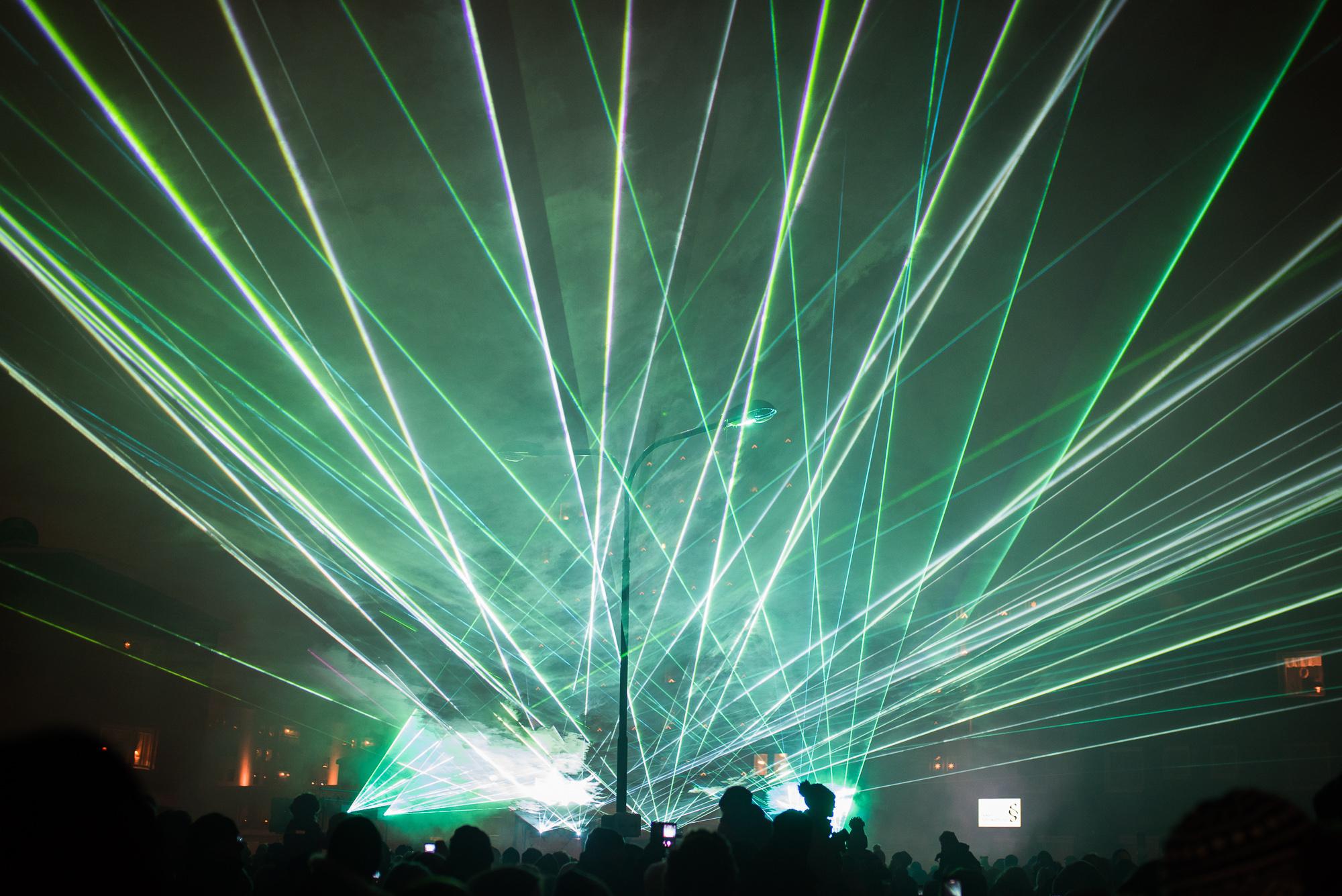 Lasershow istället för fyrverkerier i Boden
