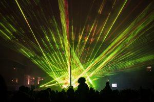 Lasershow istället för nyårsfyrverkeri i Boden.