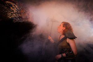 Nordsken 2018. She in Dovahkiin: Dragonborn. -Thanx Tarotikum.