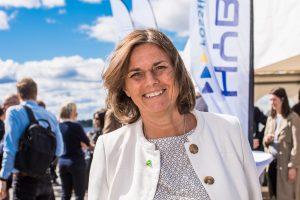 Isabella Lövin på Hybrits invigning i Luleå.