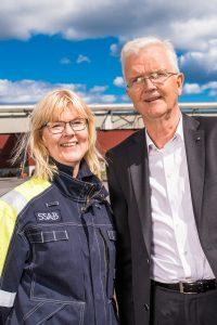 Mingel på Hybrits invigning på SSAB i Luleå.