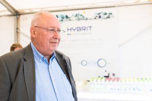 Bo Krogvig, kommunikationsdirektör, LKAB på Hybrits invigning i Luleå.