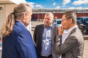 Mårten Görnerup vd, Hybrit,  ? och Martin Pei, Teknisk direktör SSAB.