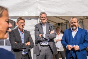 Jan Moström, LKAB, Magnus Hall, Vattenfall samt Mårten Görnerup vd, Hybrit.