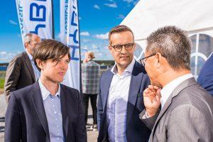 Mingel på Hybrits invigning på SSAB i Luleå. Martin Pei, Teknisk direktör SSAB längst till höger.