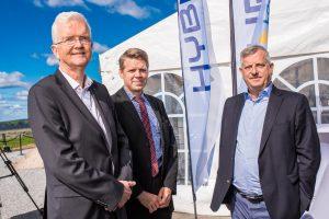 Mingel på Hybrits invigning i Luleå.