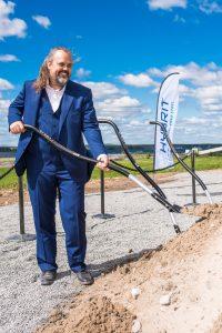 Mårten Görnerup vd, Hybrit tar första spadtaget för projektet.