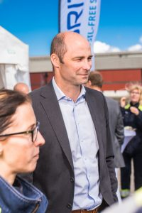 Mingel på invigningen av Hybrit i Luleå.