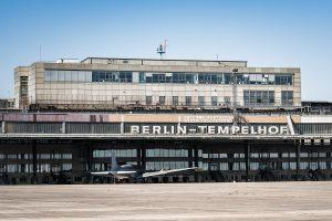 Tempelhofs flygplats i Berlin.