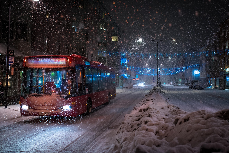Snöfall och LLT. Luleå.