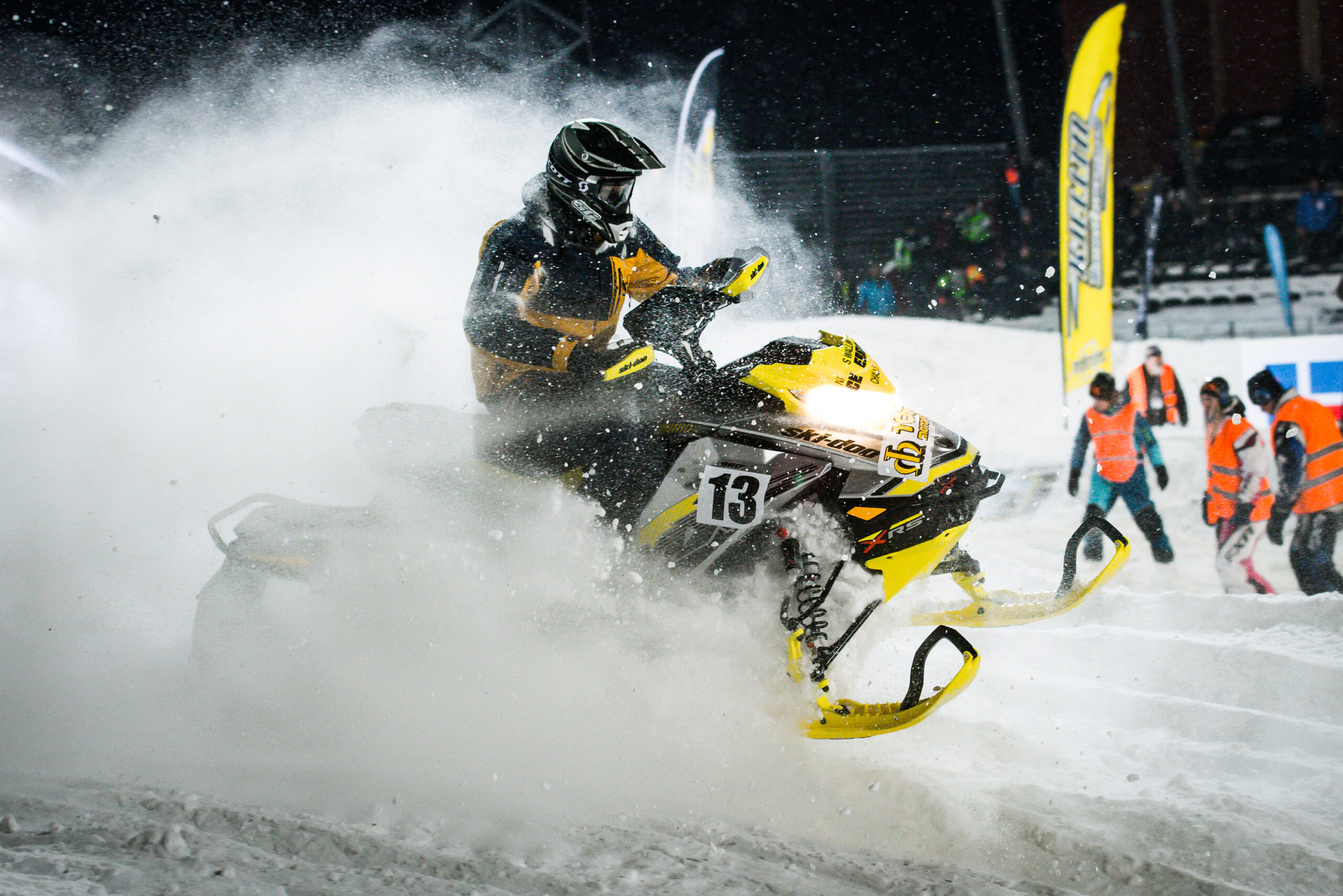 Skotercross på Boden Arena. Super-X 2018.
