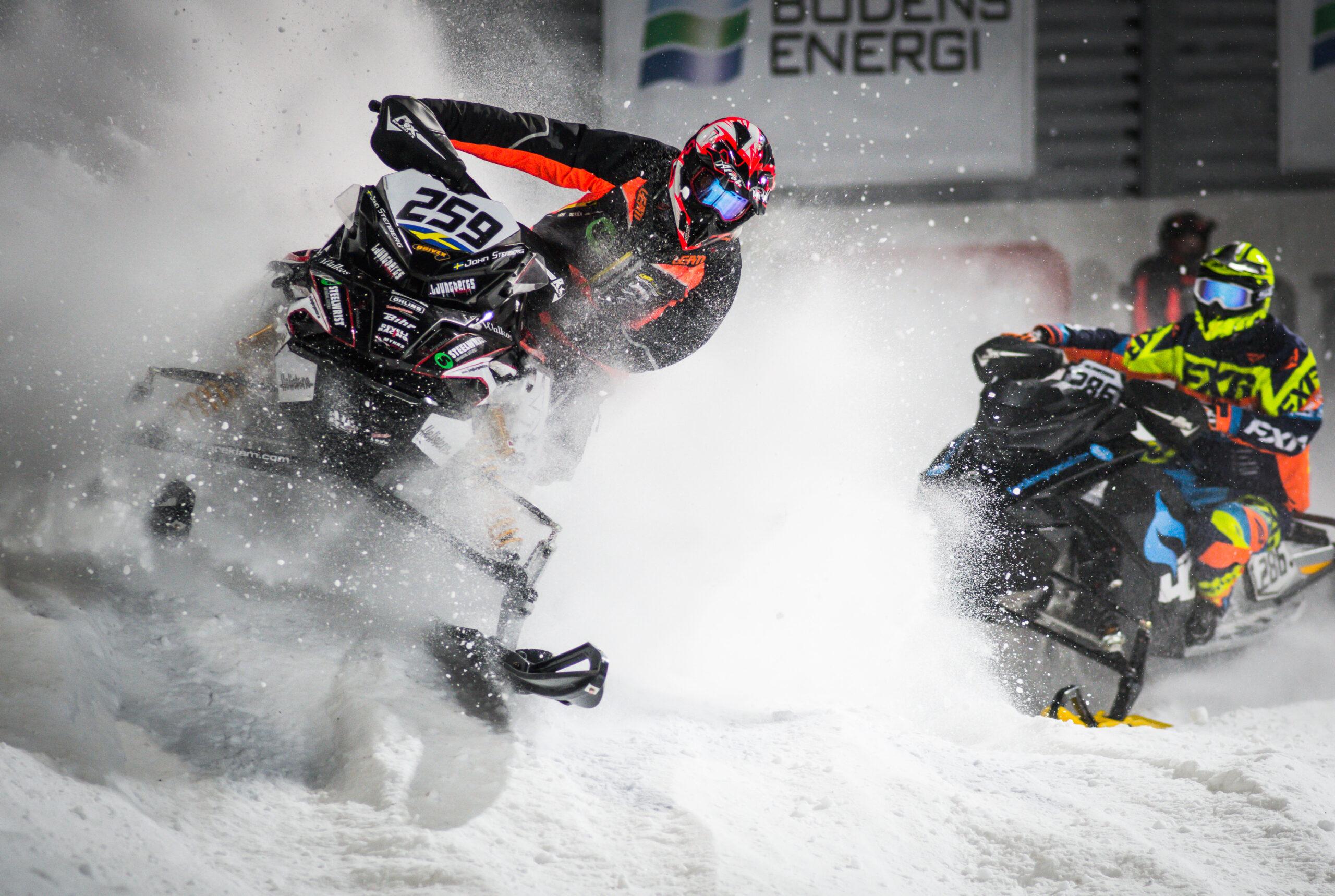 Super-X skotercross på Boden Arena. 259 John Stenberg, Lofsdalens SK, Ljungbergs Motor Racing Team.
