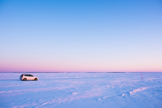Sällan har min bil varit vackrare. Lövskär, Luleå.
