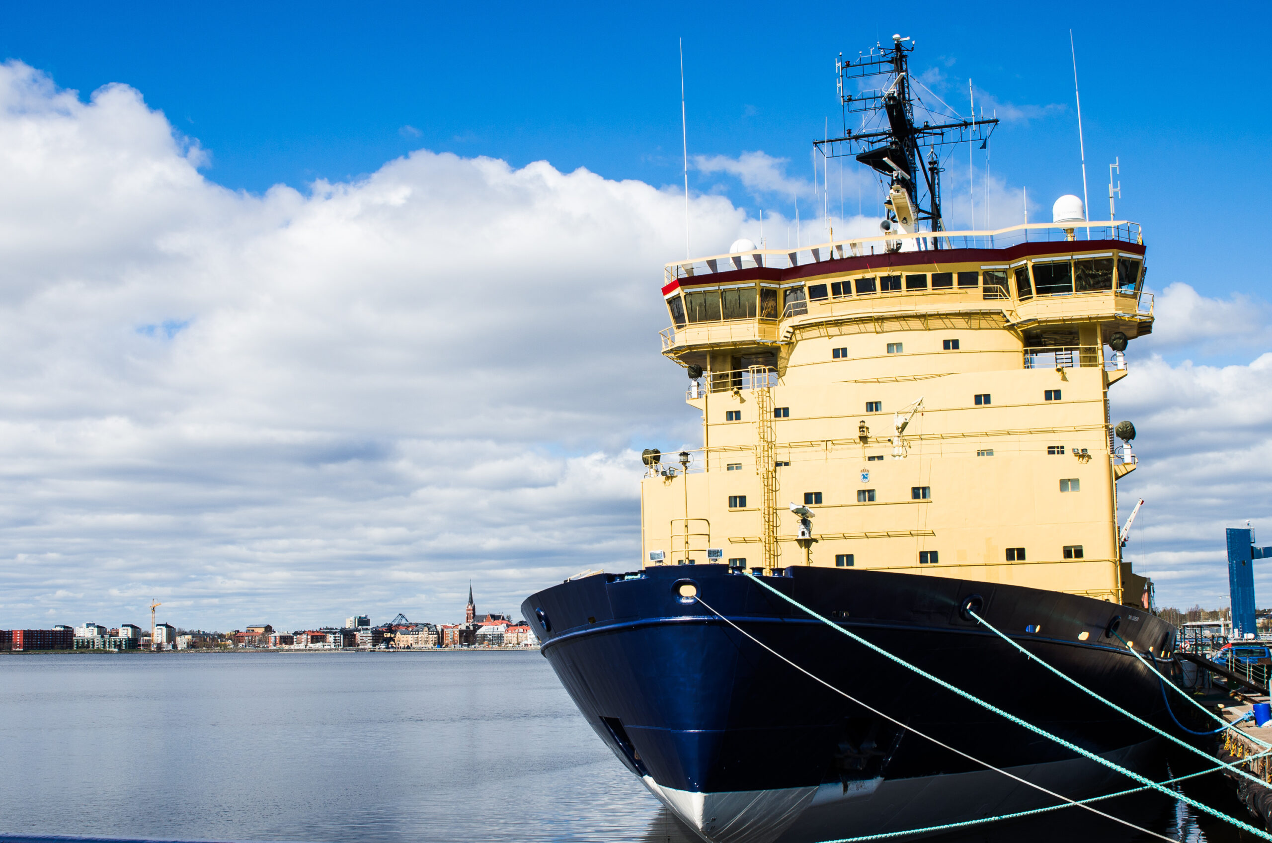 En av isbrytarna i Luleå.