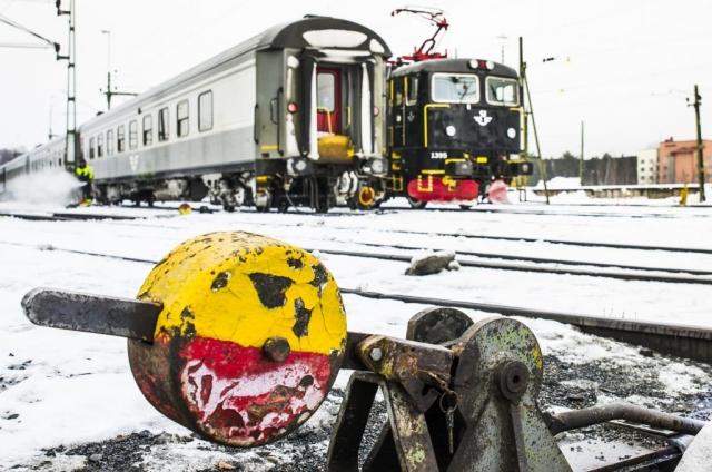 Järnvägsstationen i Luleå.