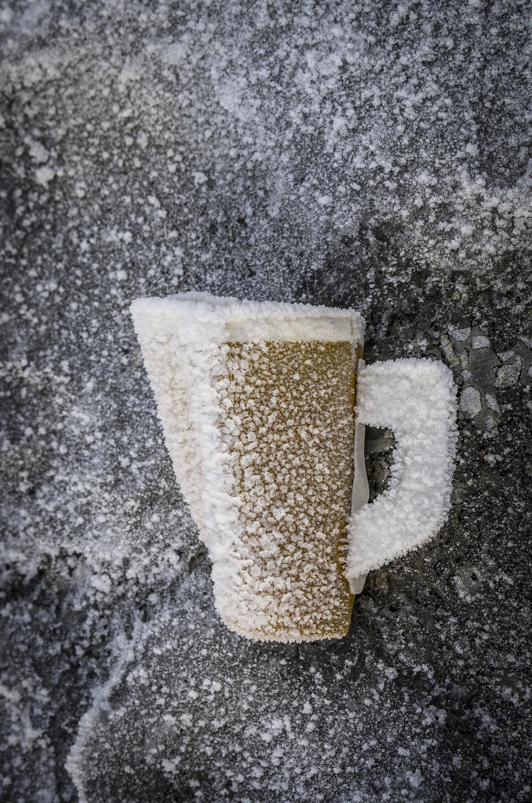 Frostig kaffemugg.